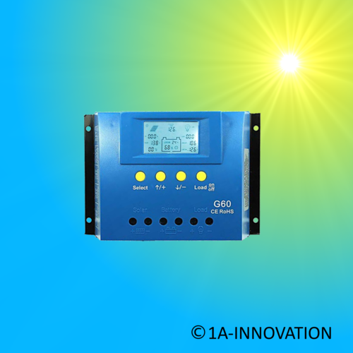 Solar Charge Controller 60A 12V / 24V LCD settable