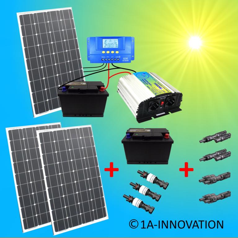 Heimwerker 1a-innovation Inselanlage Solaranlage 100 Watt Solarpanel Photovoltaik Pforzheim