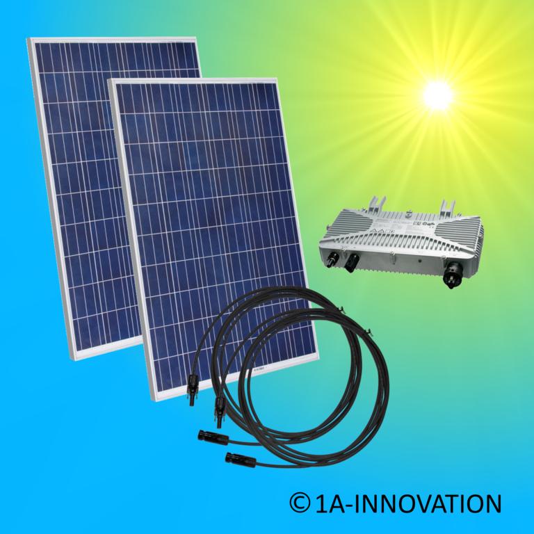 500w solaranlage 0 5kw zur einspeisung ins eigene hausnetz einphasig. Black Bedroom Furniture Sets. Home Design Ideas