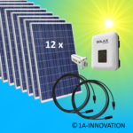 3000W solar system for feeding into your own home network single-phase