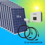 4000W solar system for feeding into network triple-phase