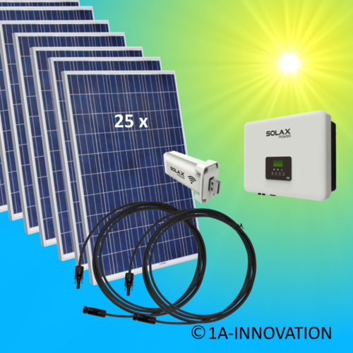 7000W solar system for feeding into network triple-phase