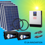 1500W hybrid solar system 1,5kW incl 2x Storage for connection to your own home network single-phase