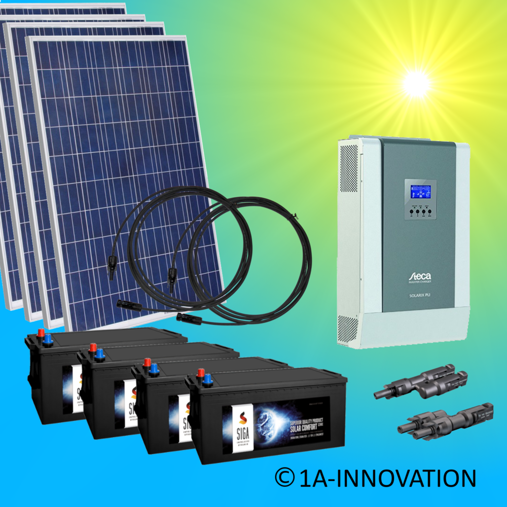 3000W hybrid solar system 3kW incl. 8x Storage for connection to ...