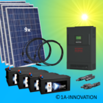 2500W hybrid solar system 2,5kW incl. 4xStorage for connection to your own home network single-phase