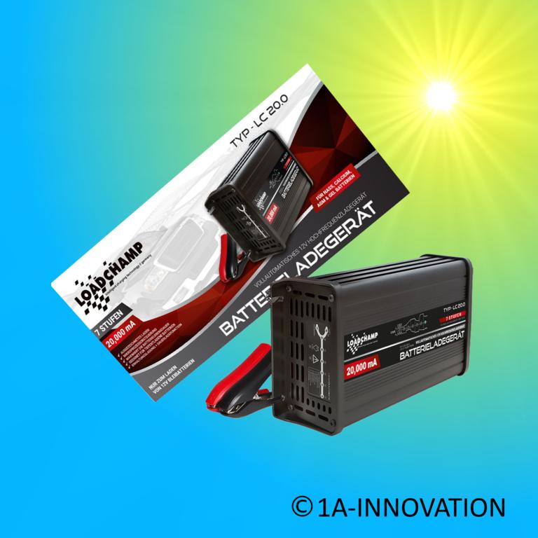 intelligentes profi batterieladeger t 12v 20a 1a innovation