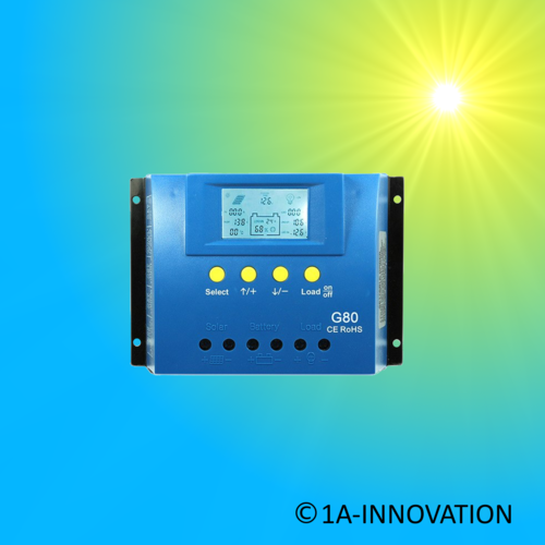 Solar Charge Controller 80A 12V / 24V LCD settable