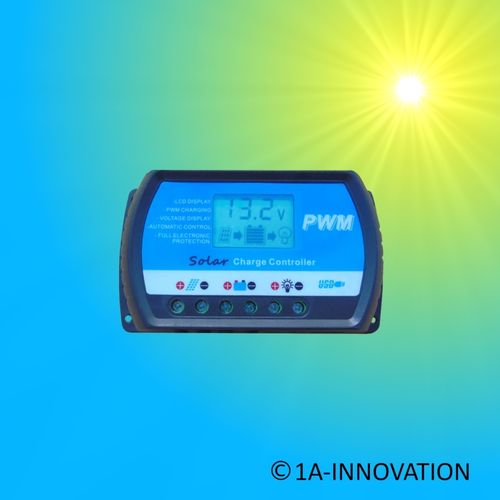 Solar Charge Controller 20A 12V / 24V LCD Blue