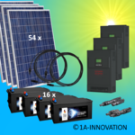 15000W hybrid solar system 15kW incl. 16x Storage for connection to your own home network