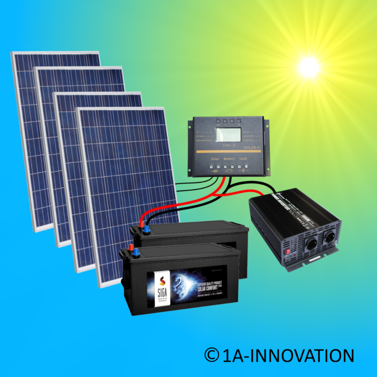 Sonstige 1a-innovation Inselanlage Solaranlage 100 Watt Solarpanel Photovoltaik Pforzheim Haushaltsgeräte