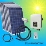 1750W solar system for feeding into your own home network single-phase