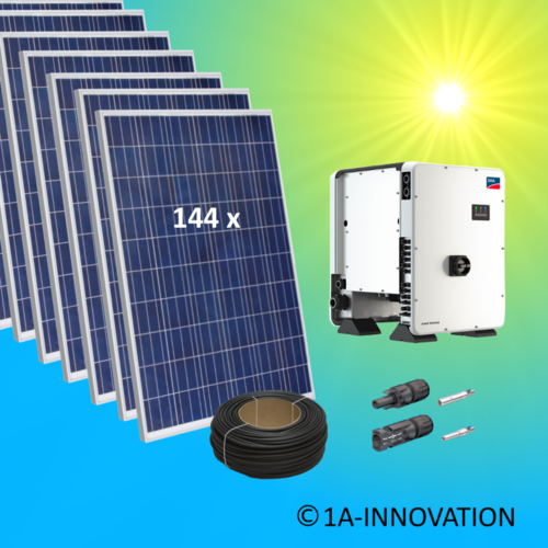 40000W solar system for feeding into network triple-phase