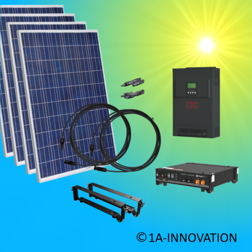 2500W hybrid solar system 2,5kW incl 1x Storage for connection to your own home network single-phase