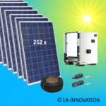 70000W solar system for feeding into network triple-phase