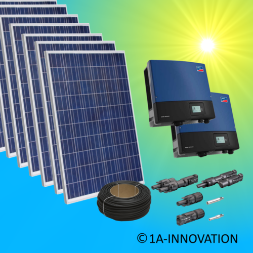 30000W solar system for feeding into network triple-phase