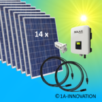 3750W solar system for feeding into your own home network single-phase