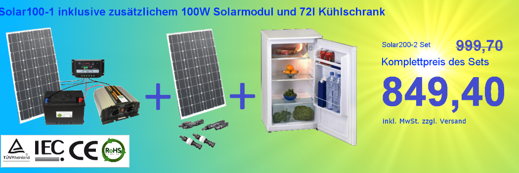 Solarenergie 1a-innovation Inselanlage Solaranlage 100 Watt Solarpanel Photovoltaik Pforzheim Solartechnik