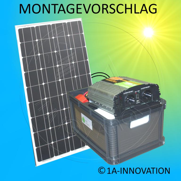 solar100 1 komplett 220v solarspeichersystem 100 watt solaranlage. Black Bedroom Furniture Sets. Home Design Ideas