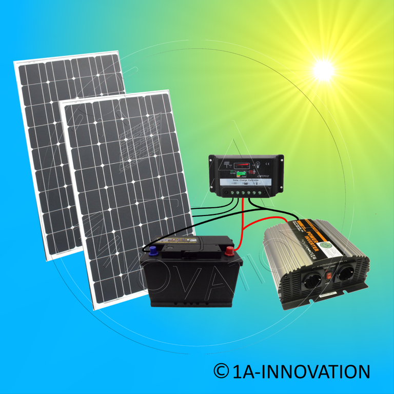 solar200 1 komplettes 220v solarspeichersystem 200 watt solaranlage. Black Bedroom Furniture Sets. Home Design Ideas