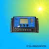 Laderegler 20A 12V / 24V LCD Blau einstellbar 1A-Innovation