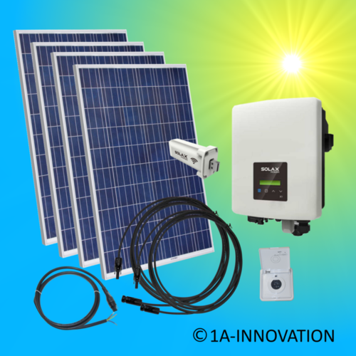 1000W solar system for feeding into your own home network single-phase