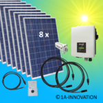 2000W solar system for feeding into your own home network single-phase