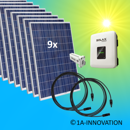 2500W solar system for feeding into your own home network single-phase
