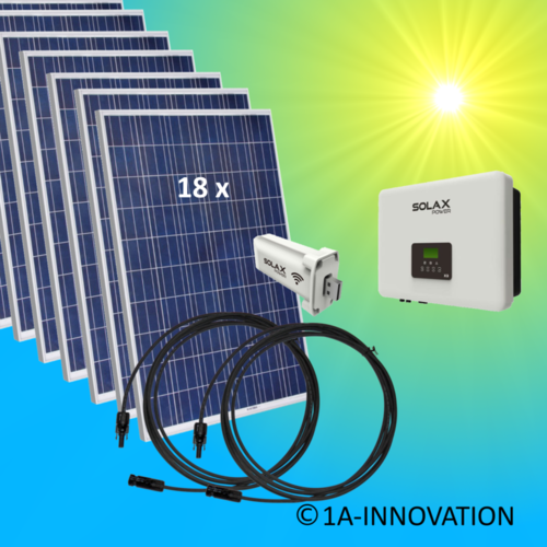5000W solar system for feeding into network triple-phase