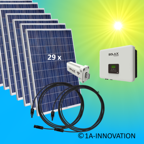 8000W solar system for feeding into network triple-phase
