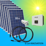 9000W solar system for feeding into network triple-phase