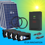3000W hybrid solar system 3kW incl. 4x Storage for connection to your own home network single-phase