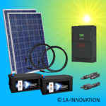 500W hybrid solar system 0,5kW incl 2x Storage for connection to your own home network single-phase