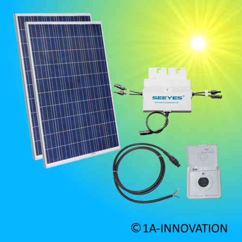 600W solar system for feeding into your own home network single-phase