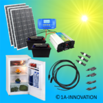 Solar300-2C Complete 220V solar storage system with refrigerator 300 watts