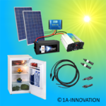 Solar500-11C Complete 220V solar storage system with refrigerator 500 watts 91l