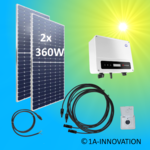 720W solar balcony power plant 0.72 kW single-phase house network supply
