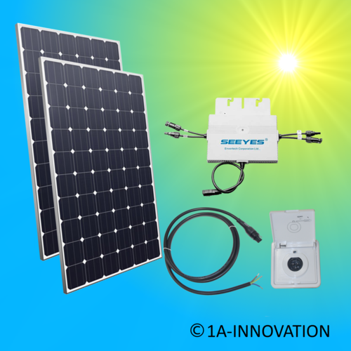 600W solar balcony power plant 0,6 kW single-phase house network supply