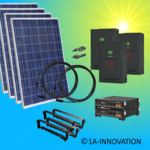 5000W hybrid solar system 5kW incl 2x Storage for connection to your own home network three-phase